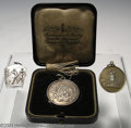 Golf Collectibles:Medals/Jewelry, Three medals. Included are a boxed silver runner-up medal ... (4items)