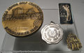 """Golf Collectibles:Medals/Jewelry, Four interesting medals. Included is a large, heavy 3"""" ... (4items)"""
