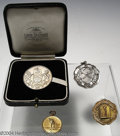 Golf Collectibles:Medals/Jewelry, Four medals. Included is a boxed silver medal with British ... (5items)