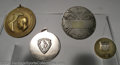 Golf Collectibles:Medals/Jewelry, Four medals and pins. Included are a round silver medal ... (4items)