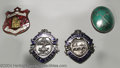 Golf Collectibles:Medals/Jewelry, Four interesting enamel pins. Included are a red and white ... (4items)