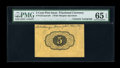 Fractional Currency:First Issue, Fr. 1231SP 5c First Issue Wide Margin Back Courtesy Autograph PMG Gem Uncirculated 65 EPQ....