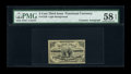 Fractional Currency:Third Issue, Fr. 1226 3c Third Issue Courtesy Autograph PMG Choice About Unc 58 EPQ....