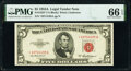 Small Size:Legal Tender Notes, Fr. 1533* $5 1953A Legal Tender Star Note. PMG Gem Uncirculated 66 EPQ.. ...