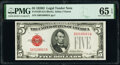 Small Size:Legal Tender Notes, Fr. 1529 $5 1928D Legal Tender Note. PMG Gem Uncirculated 65 EPQ.. ...