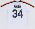 Autographs:Jerseys, Nolan Ryan Signed Houston Astros Jersey. ...