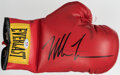 Boxing Collectibles:Autographs, Mike Tyson Signed Everlast Boxing Glove....