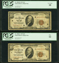 Small Size:Federal Reserve Bank Notes, Fr. 1860-B $10 1929 Federal Reserve Bank Note. PCGS Very Good 10;. Fr. 1860-L $10 1929 Federal Reserve Bank Note. PCGS Fin... (Total: 2 notes)