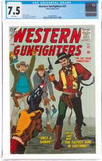 Western Gunfighters #25 (Atlas, 1957) CGC VF- 7.5 White pages