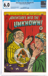 Adventures Into The Unknown #12 (ACG, 1950) CGC FN 6.0 Off-white pages