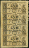 Obsoletes By State:Louisiana, New Orleans, LA- Canal & Banking Co. 18__ Uncut Sheets Choice About Uncirculated.. $5-$5-$5-$5;. $20-$20-$50-$100.. ... (Total: 2 sheets)