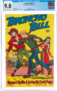 Broncho Bill #9 (United Feature Syndicate/Standard, 1949) CGC VF/NM 9.0 Off-white to white pages