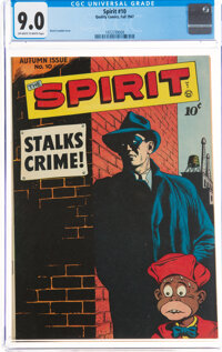 The Spirit #10 (Quality, 1947) CGC VF/NM 9.0 Off-white to white pages