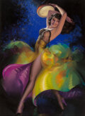 Pin-Up and Glamour Art, Rolf Armstrong (American, 1889-1960). Ripplin Rythm, calendar illustration, 1948. Pastel on paper laid on board. 40-1/2 ...