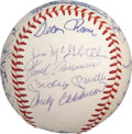 Baseball Collectibles:Balls, 1967 American League All-Star Team Signed Baseball from the Rico Petrocelli Collection. ...