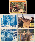 """Movie Posters:Western, Rebellion & Other Lot (Crescent Pictures, R-1946). Overall: Very Fine-. Lobby Cards (4) (11"""" X 14"""") & Trimmed Lobby Card (Ap..."""