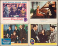 """Movie Posters:Hitchcock, Rebecca & Other Lot (United Artists, R-1946). Very Fine-. Lobby Cards (4) (11"""" X 14""""). Hitchcock.. ..."""