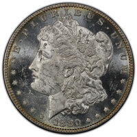 1880/79-O $1 MS62 Deep Mirror Prooflike PCGS. CAC. Ex: Avalanche Collection. PCGS Population: (5/16 and 0/2+). NGC Censu...