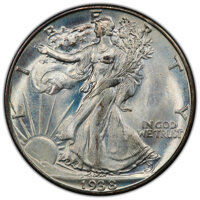 1938-D 50C MS66+ PCGS. CAC. PCGS Population: (515/54 and 73/7+). NGC Census: (115/27 and 17/5+). CDN: $1,400 Whsle. Bid...