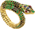 Estate Jewelry:Bracelets, Ruby, Sapphire, Emerald, Diamond, Enamel, Gold Bracelet . ...