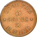 Civil War Patriotics, 1862 H. Wind, Easton, PA, AU58 NGC. Fuld-PA320A-1a1....