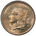 1868 3CN MS66+ PCGS. CAC. PCGS Population: (47/1 and 7/1+). NGC Census: (13/7 and 0/1+). CDN: $790 Whsle. Bid for NGC/PC...