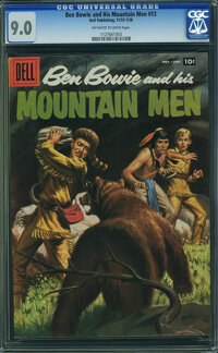 Ben Bowie and His Mountain Men #13 (Dell, 1957) CGC VF/NM 9.0 Off-white to white pages