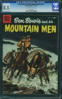 Ben Bowie and His Mountain Men #13 (Dell, 1957) CGC VF+ 8.5 Off-white to white pages