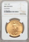 Saint-Gaudens Double Eagles: , 1924 $20 -- Cleaned -- NGC Details. Unc. Mintage 4,323,500. . From The Selman Family Collection. ...