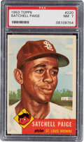 Baseball Cards:Singles (1950-1959), 1953 Topps Satchell Paige #220 PSA NM 7. ...