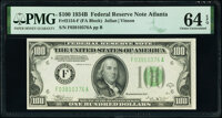 Fr. 2154-F $100 1934B Federal Reserve Note. PMG Choice Uncirculated 64 EPQ