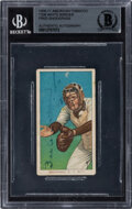 Baseball Cards:Autographs, Signed 1909-11 Sweet Caporal T206 Fred Snodgrass (Catching) BGS Authentic Auto....