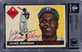 Baseball Cards:Autographs, Signed 1955 Topps Jackie Robinson #50, BGS Authentic Auto....