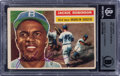 Baseball Cards:Autographs, Signed 1956 Topps #30 Jackie Robinson, BGS Authentic Auto....