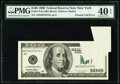 Error Notes:Foldovers, Printed Fold Error Fr. 2175-B $100 1996 Federal Reserve Note. PMG Extremely Fine 40 EPQ.. ...