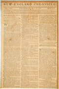 Books:Periodicals, [Declaration of Independence]. The New-England Chronicle. Volume VIII. Numb. 413. Boston: Powars and Willis, Jul...
