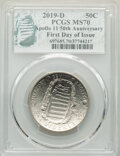 Six-Piece 2019 Apollo 50th Anniversary Set, First Day of Issue, PCGS. This Set Includes: 2019-D 50C MS70; 2019-S 50C PR7...
