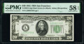 Fr. 2054-L $20 1934 Dark Green Seal Federal Reserve Note. PMG Choice About Unc 58 EPQ