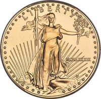 1989 $50 One-Ounce Gold Eagle MS70 PCGS....(PCGS# 9834)