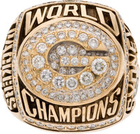 1996 Green Bay Packers Super Bowl XXXI Championship Ring Presented to Running Backs Coach