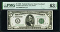 Small Size:Federal Reserve Notes, Low Serial Number 123 Fr. 1950-D $5 1928 Federal Reserve Note. PMG Choice Uncirculated 63 EPQ.. ...