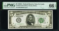 Small Size:Federal Reserve Notes, Fr. 1951-H $5 1928A Federal Reserve Note. PMG Gem Uncirculated 66 EPQ.. ...