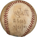 Baseball Collectibles:Balls, 1992 George Brett 3,000th Hit Game Used & Signed Baseball with Player Letter....