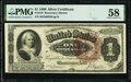 Large Size:Silver Certificates, Fr. 219 $1 1886 Silver Certificate PMG Choice About Unc 58.. ...