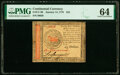 Colonial Notes:Continental Congress Issues, Continental Currency January 14, 1779 $45 PMG Choice Uncirculated 64.. ...