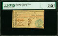 Colonial Notes:Georgia, Georgia 1777 $7 PMG About Uncirculated 55 EPQ.. ...