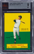Baseball Cards:Singles (1960-1969), 1964 Topps Stand-Up Mickey Mantle BVG Mint 9....