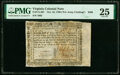 Virginia October 16, 1780 (For Clothing the Army) $500 PMG Very Fine 25