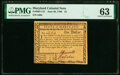 Colonial Notes:Maryland, Maryland June 28, 1780 $1 PMG Choice Uncirculated 63.. ...