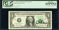 Paul H. O'Neil Courtesy Autographed Fr. 1927-F* $1 2001 Federal Reserve Star Notes. Two Consecutive Examples. PCGS Gem N...